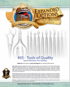 (5E) Expanded Options #05 - Items of Quality - Tools