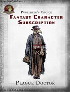 Publisher's Choice - Fantasy Characters: Plague Doctor