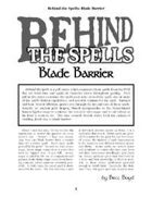 Behind the Spells: Blade Barrier