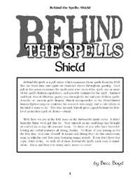 Behind the Spells: Shield