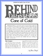 Behind the Spells: Cone of Cold