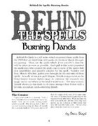 Behind the Spells: Burning Hands