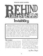 Behind the Spells: Invisibility