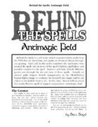 Behind the Spells: Antimagic Field