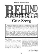 Behind the Spells: True Seeing