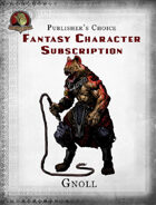 Publisher's Choice - Fantasy Characters: Gnoll