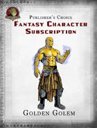 Publisher's Choice - Fantasy Characters: Gold Golem
