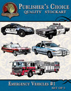 Publisher's Choice - Emergency Vehicles (Set of 5)
