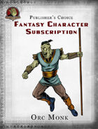 Publisher's Choice - Fantasy Characters: Orc Monk