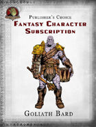 Publisher's Choice - Fantasy Characters: Goliath Bard