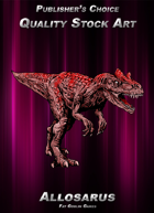 Publisher's Choice - Quality Stock Art: Allosaurus