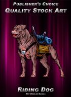 Publisher's Choice - Quality Stock Art: Riding Dog