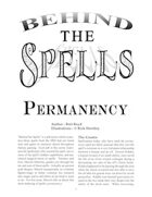 Behind the Spells: Permanency