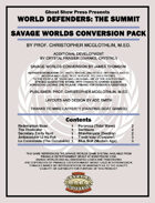 [Savage Worlds] World Defenders: The Summit