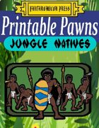 Printable Pawns:  Jungle Natives