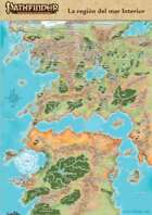 Pathfinder 1ª ed - Mapa de Golarion