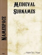 Namespace: Surnames from Medieval and Ancient Times