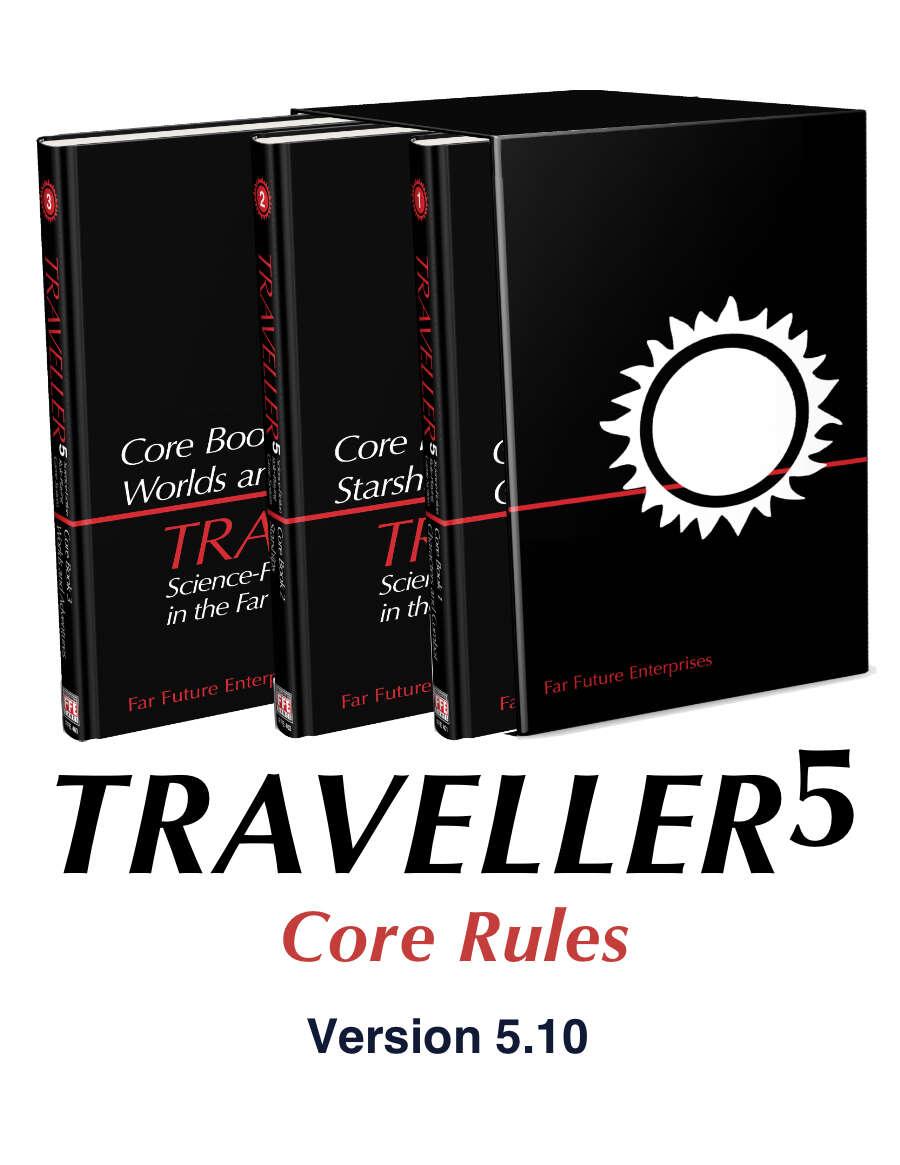 T5 Traveller5 Core Rules 3-Book Set