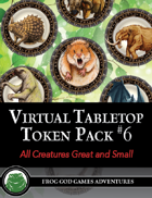 Virtual Tabletop Pack #6 All Creatures Great and Small