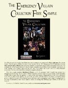 Emergency Villain Collection Free Sample