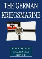 WW1 German Kriegsmarine fleet lists for Challenge & Reply 2nd edition rules