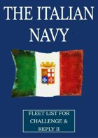 WW1 Italian Navy fleet lists for Challenge & Reply 2nd edition rules