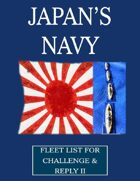 WW1 Japanese Navy fleet lists for Challenge & Reply 2nd edition rules