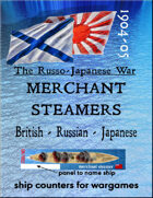 Russo-Japanese War: Merchant steamer ships (for the Battle of Tsushima, Port Arthur, etc.)
