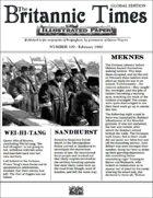 Scramble for Empire Victorian Colonial Steampunk wargames campaign newspaper February 1860