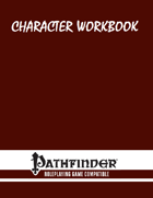 Character Workbook: Universal for PFRPG