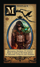 Marconius, Sorceror, 7/7, 6/2/2/2 Draw 2 Cards At The Draw Phase. +1. Discover 1 Clue At Your Location.  - Custom Card