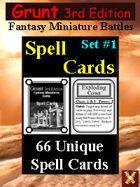 Grunt 3rd Edition Spell Cards Set #1