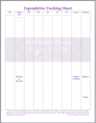 Polyhedron Games' Expendables Tracking Sheet