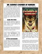 Dr. Cushing's Chamber of Horrors RPG Supplement