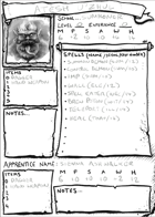 Unofficial Frostgrave Wizard and Warband Sheet