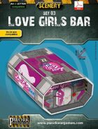 Love Girls Bar Cardboard Model