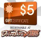 DriveThruCards $5 Gift Certificate/Account Deposit