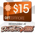 DriveThruCards $15 Gift Certificate/Account Deposit