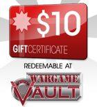 WargameVault $10 Gift Certificate/Account Deposit