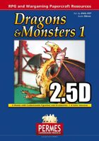 Dragons & Monsters Set 1 - 2.5D Dragon