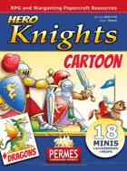 Hero Cartoon Knights and Dragons