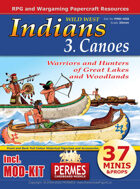 Wild West - Indians 3 Canoes + MOD-KIT