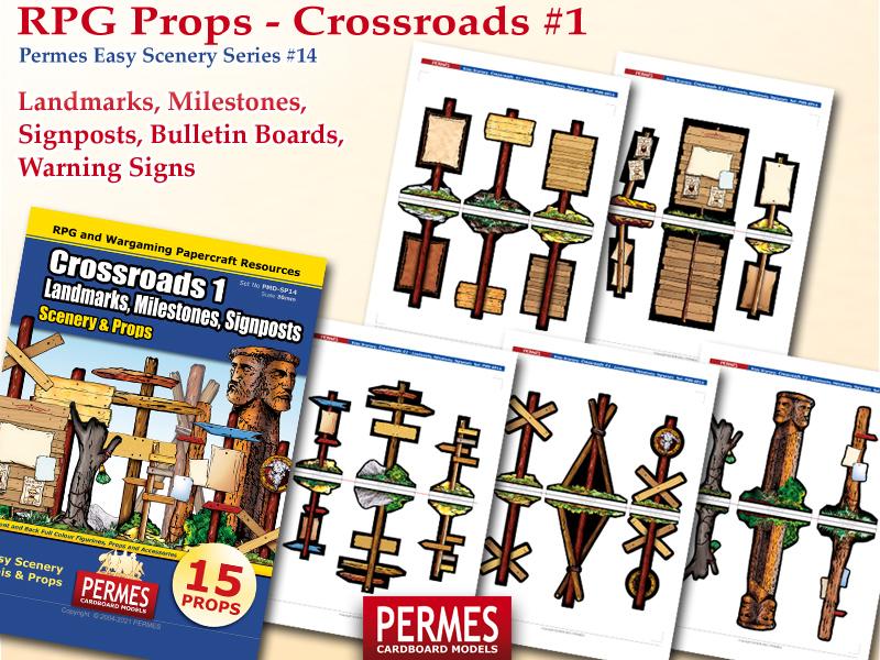 Crossroads - Landmarks, Milestones, Signposts - PERMES Easy Scenery - preview2