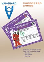 VANGUARD RPG Core Rule Book Character Cards