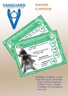 VANGUARD RPG Core Rule Book Gear Cards