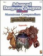 MC11 Monstrous Compendium Forgotten Realms Appendix (2e)