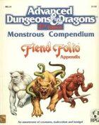 MC14 Monstrous Compendium Fiend Folio Appendix (2e)