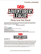 DDEX1-04 Dues for the Dead (5e)