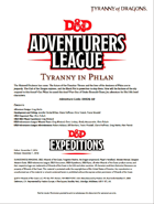 DDEX1-10 Tyranny in Phlan (5e)