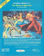 L1 The Secret of Bone Hill (1e)